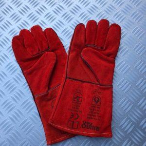 Zware Smeed/Lashandschoen Rood